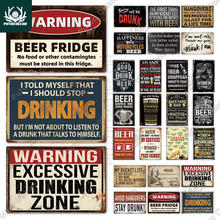 Putuo Decor Drink Vintage Metal Plaque Tin Sign Funny Beer Drinker Wine Lover for Bar Pub Club Kitchen Home Man Cave Wall Decor