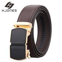 HJones-Cinturón de cuero genuino para hombre, correa de hebilla ajustable, informal, de alta calidad, nuevo, 2021, HJ0263