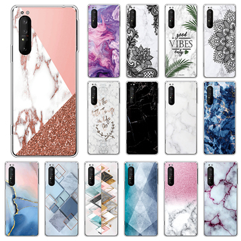 Marble TPU Case For Sony Xperia 1 II 5G Soft Silicone Back Cover For SonyXperia 1 Xperia1 II 6.5 Phone Cases Luxury Funda Coque image