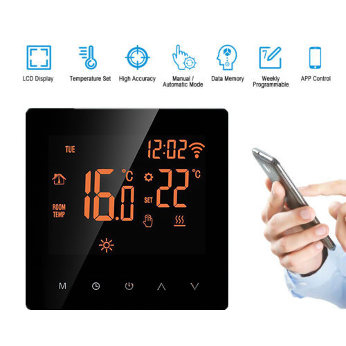 WiFi Smart Thermostat LCD Display Touch Screen APP Control Programmable Room Temperature Controller For Home Office Hotel