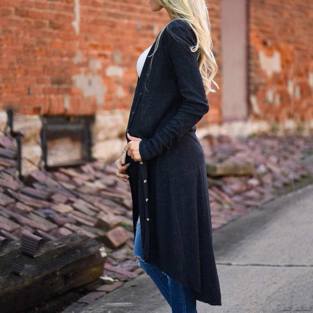 JAYCOSIN Autumn 2019 female knit cardigan sweater coat long female a little shawl knitted jacket female Black Cardigan Jackets