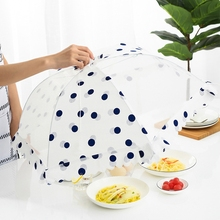 Kitchen Umbrella Style Food Cover Foldable and Gauzer Design Household Table Tools Anti Fly Mosquito and Dust-proof Meal Lid