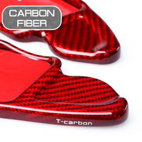 Carbon Fiber Car Steering Wheel Extend Paddle For Audi A5 Q5 S5 S6 RS6 Q7 A8 Shifters Covers Car Stickers
