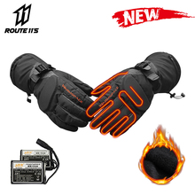 Motorcycle Gloves Winter Moto Electric Heated Gloves Waterproof Battery Powered Motorbike Racing Riding Keep Warm Heating Glove savior motorcycle heating gloves riding racing biking winter sports electric rechargeable battery heated warm gloves cycling