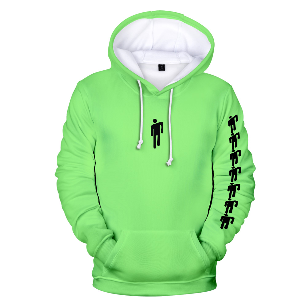 Billie Eilish 3D Hoodie Men's Women's Sweatshirt Casual Harajuku Hoodie Billie Eilish Sweatshirt Pocket Pullover Kids Adult Top
