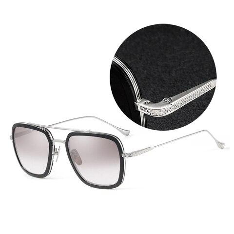 High Quality Iron Man Tony Stark Classic Vintage Sunglasses Anti Blue Light Computer eyeglasses Retro Polarized Sun Glasses Pakistan