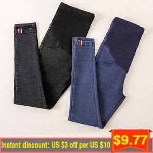 Image 5 - Denim Maternity  Jeans Pants For Pregnant Women Maternity Nursing Pregnancy Jeans Leggings Trousers Gravidas Maternity Clothing