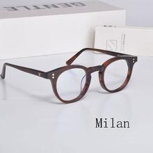 Gentle MILAN Vintage Optical Glasses Frame Acetate Eyeglasses Oliver Reading glasses Women and Men Tortoise Eyewear Frames