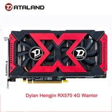 Dataland X seri grafik kartı rx570 4G AMD GDDR5 256bit PCI masaüstü oyun RX 570 ekran kartı PC için