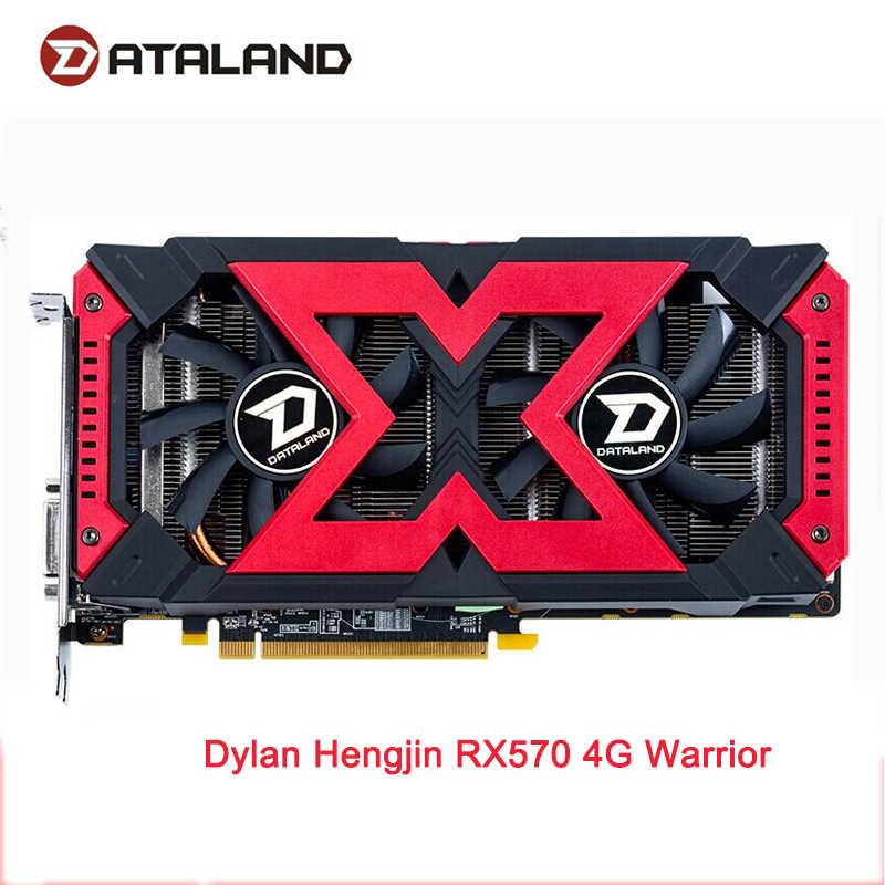 Dataland X-シリアルグラフィックカード rx570 4 グラム Amd の GDDR5 256bit PCI デスクトップゲーム RX 570 ビデオカード pc 用