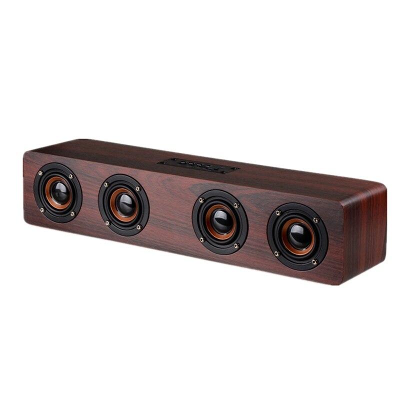 12 Вт Hifi Bluetooth динамик s беспроводной стерео сабвуфер динамик деревянный домашний аудио Настольный динамик Громкая связь Tf звуковая коробка
