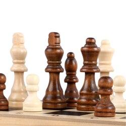 Conjunto de peças de xadrez de madeira, 76mm, 32 peças, homens de madeira, entretenimento, jogo de tabuleiro, antiderrapante estatuetas de xadrez