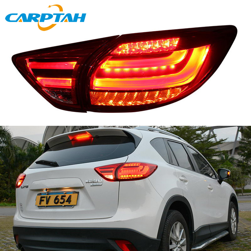 Car Styling Taillight Tail Lights For Mazda CX-5 CX5 2013 - 2016 Rear Lamp DRL + Turn Signal + Reverse Lamp + Brake LED Light