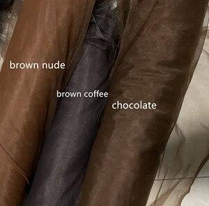 Image 5 - Bruin Naakt Koffie Licht Naakt Huid Naakt Donker Naakt Super Zachte Fijne Mesh Tulle Tissue Stof 160 Cm Breedte 4 meters/partij