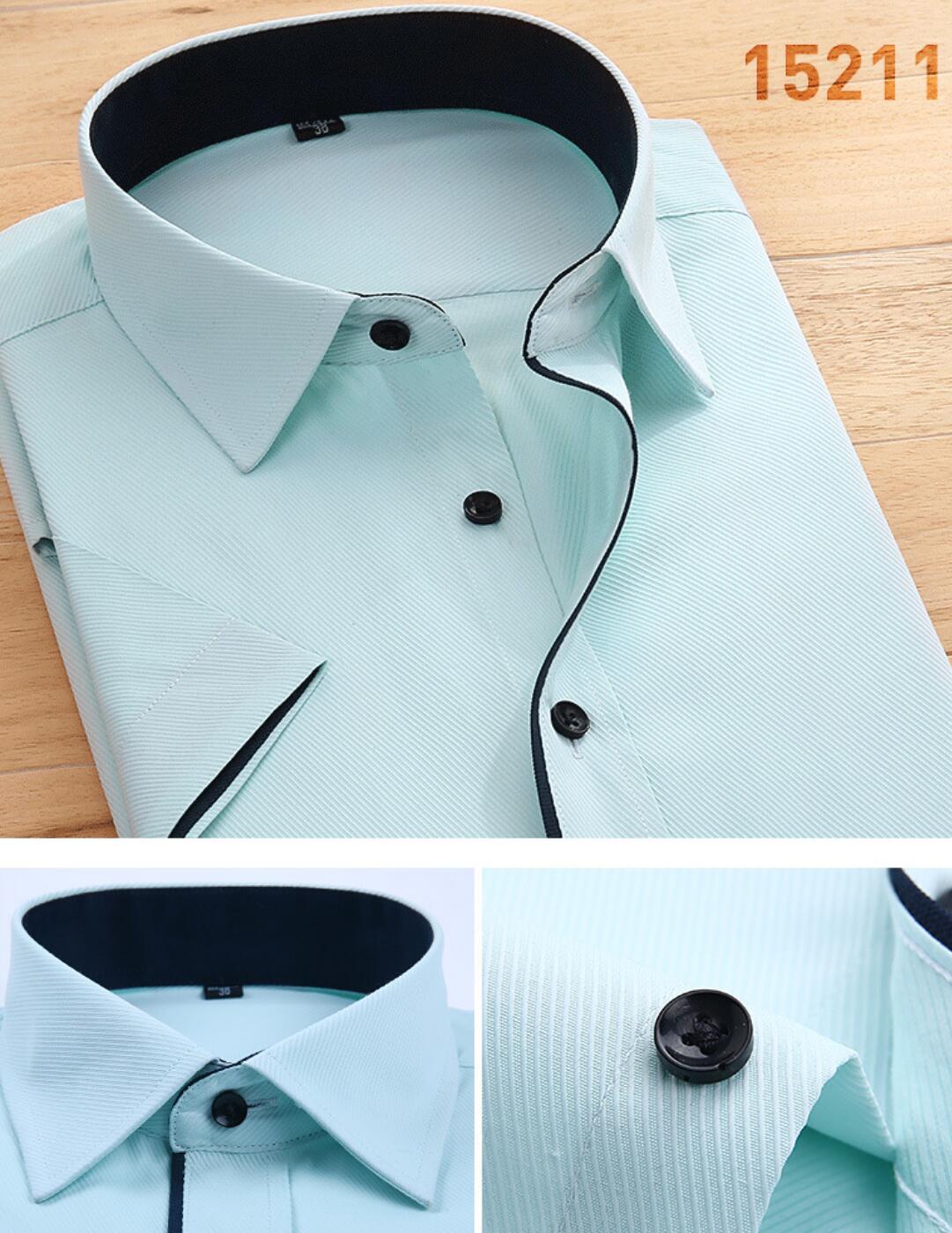 2020 HOT Summer Solid Color Shirt Men's  Sleeve White Shirt Em8 Autumn Clothes Summer  KJJ-01-03