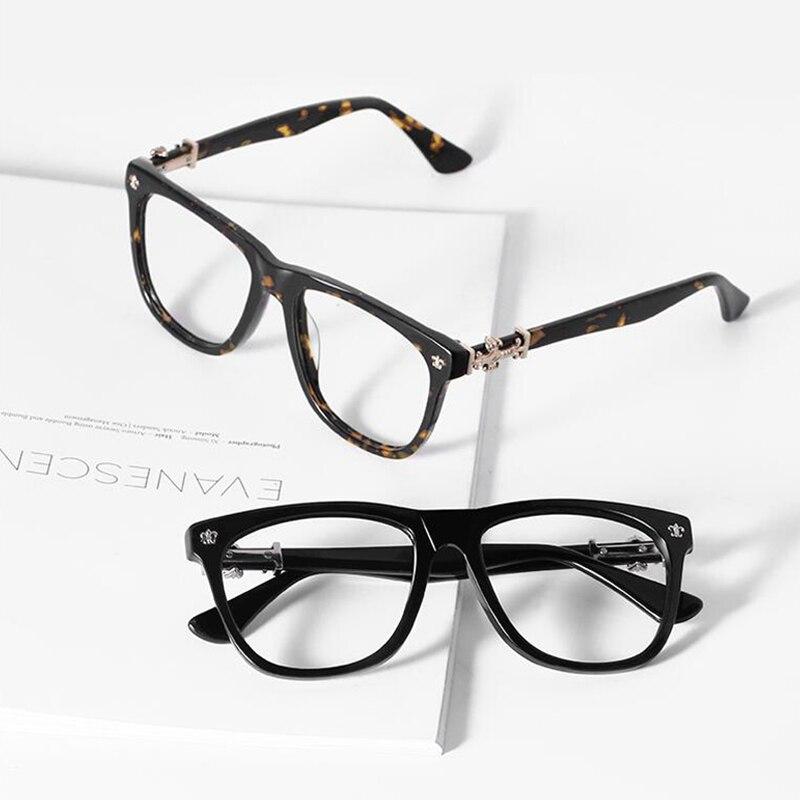 Acetate Transparent Glasses Frame Women Myopia Eyeglasses Frames Men Tag Eyewear Frames Designer