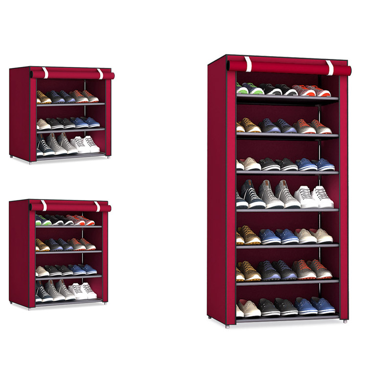 Non-woven Fabric Storage Shoe Rack Hallway Cabinet Organizer Holder 4/5/6/8/10 Layers Assemble Shoes Shelf DIY Home Furniture