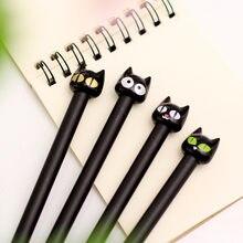 Stylo Gel chat mignon Kawaii 0.5mm, fournitures d'écriture scolaires et de bureau, papeterie japonaise coréenne pour enfants garçons filles