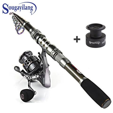 Sougayilang fia o vara de pesca de fibra carbono e 13 1bb carretel de pesca