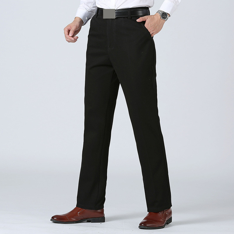 MRMT 2020 Brand Spring And Summer Men's Trousers Middle-aged And Old Leisure Pants For Male Loose Straight Cotton Trouse