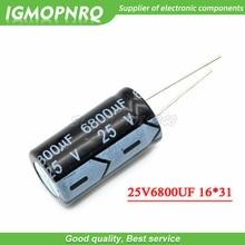 Condensateur électrolytique 25v6800uf, 16x31, 25v, 6800uf, 10 pièces