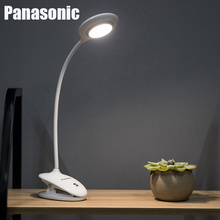 цены Panasonic LED Touch Switch 3 Modes Clip Desk Lamp Eye Protection Desk Light Dimmer USB Rechargeable Led Table Lamp