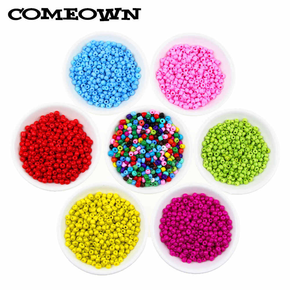 Wholesale 2-4mm Solid Color Czech Glass Loose Seed Spacer Beads Jewelry Making