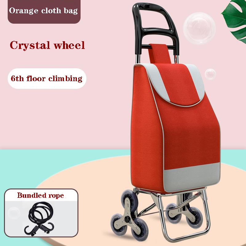 Supermarket grocery shopping cart household anti-rust household trolley portable waterproof foldable old man climbing stairs