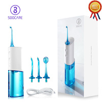 Original SOOCAS W3 PX7 Waterproof Portable Oral Dental Flosser 230ml Irrigator Water Tank Constant Pulse Pressure Oral Hygiene
