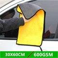 Толстая 600gsm 30x3 0/40/60 см полотенце для мойки авто микрофибра для Сушки автомобиля чистящая ткань уход за автомобилем полировка аксессуары для...