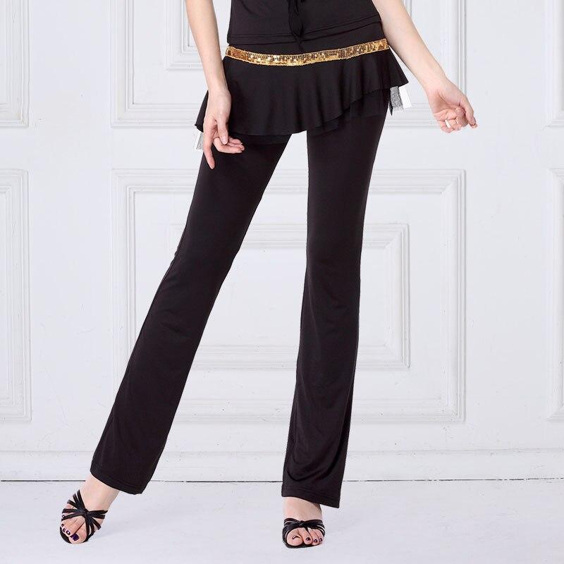 Latin Dance Pants Female Adult Clothes Ballroom Flamengo Samba Tango Salsa Cha Cha Dancing Trousers Women Practice Wear DNV11917