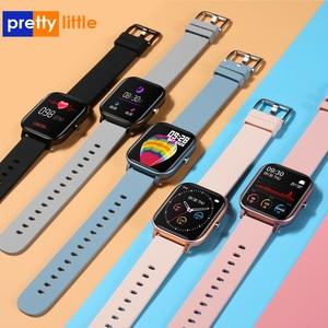 Image 1 - P8 montre intelligente hommes femmes Sport bracelet horloge moniteur de fréquence cardiaque moniteur de sommeil IP67 étanche Smartwatch tracker pour téléphone
