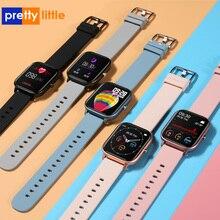Relógio smartwatch p8, unissex, esportivo, monitor cardíaco, monitor de sono, à prova d àgua ip67, para celular