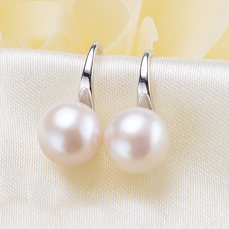 100% Genuine Natural Pearl Earrings For Women freshwater pearl Jewelry Daughter Birthday Gift