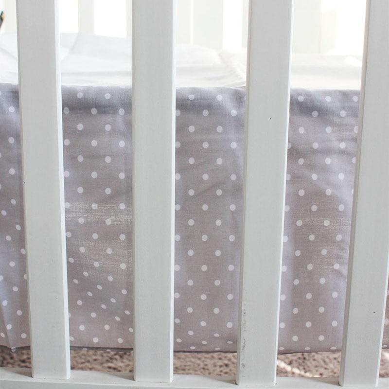 Cotton Nordic Girl Crib Bedding Sets Newborns Mattress Cover Crib Burskirs Crib Bedding Girl Provide Personal