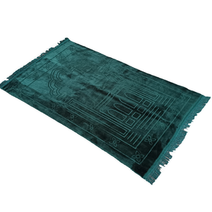 Image 3 - سجادة عادي مصلاة للمسلمين قماش راشيل القطيفة تتميز بتصميم مستطيل وهدب على كلا الجانبين سجادة للصلاة الإسلامية 65 × 110 سنتيمتر