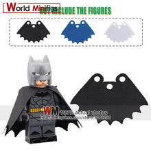 5PCS/lot Cutoms Super Heroes Trench Coats Super Hero Batman Robin Suede Building Blocks Cloak Capes(China)