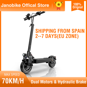 Janobike 100% Original T10 electric scooter 52V 2000W 10 inch tire folding electric scooter double motor electric motorcycle