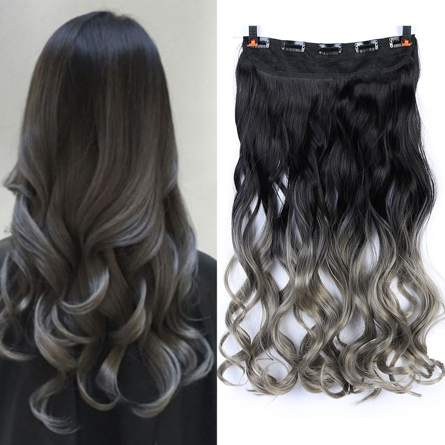 MUMUPI Fashion High Quality 24inch Synthetic Clip In Hair Extensions Curly Wavy Heat Resistant Hairpiece Natural Hair Extension