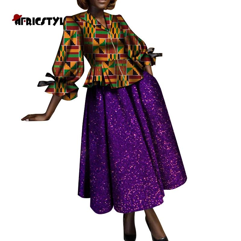 Купить африканская женская рубашка с длинным рукавом юбка из хлопка