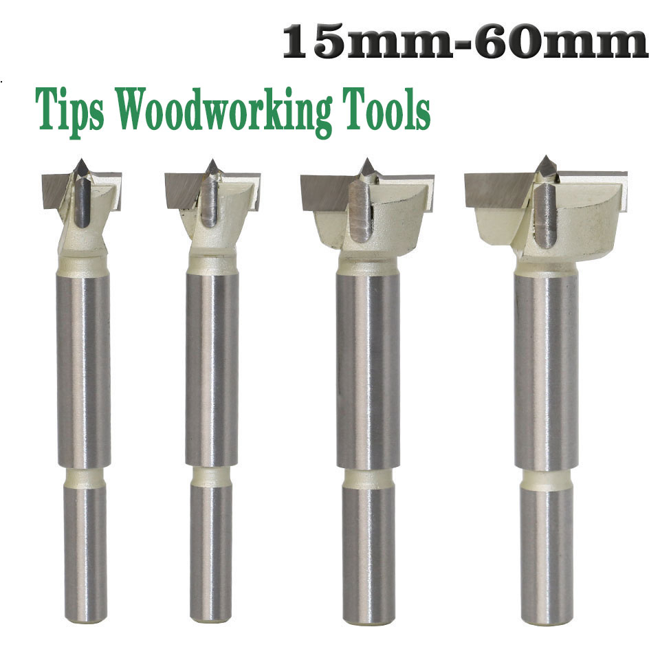 1pcs 15mm-60mm Forstner Tips Woodworking Tools Hole Saw Cutter Hinge Boring Drill Bits Round Shank Tungsten Carbide Cutter 16mm