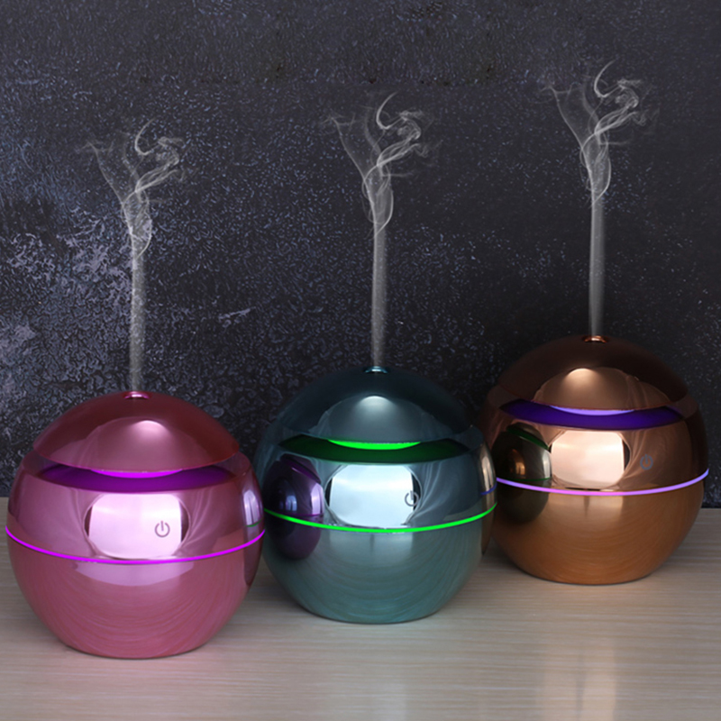 KAIPUTE 130ml mini USB Ultrasonic Air Humidifier Aromatherapy Essential Oil Diffuser Wood Grain Humidifier Lacquer Painting