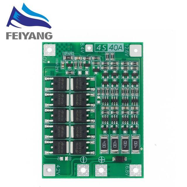 10pcs 4S 40A Li ion Lithium Battery Charger Protection Board 18650 BMS For Drill Motor 11.1V 12.6V/14.8V 16.8V Enhance/Balance