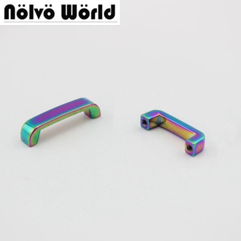 Metais para Bolsa e Partes Acessórios da Forma Pces Interior 25mm Arco-íris Arcy Ponte Conector Bolsas 10 60 20mm