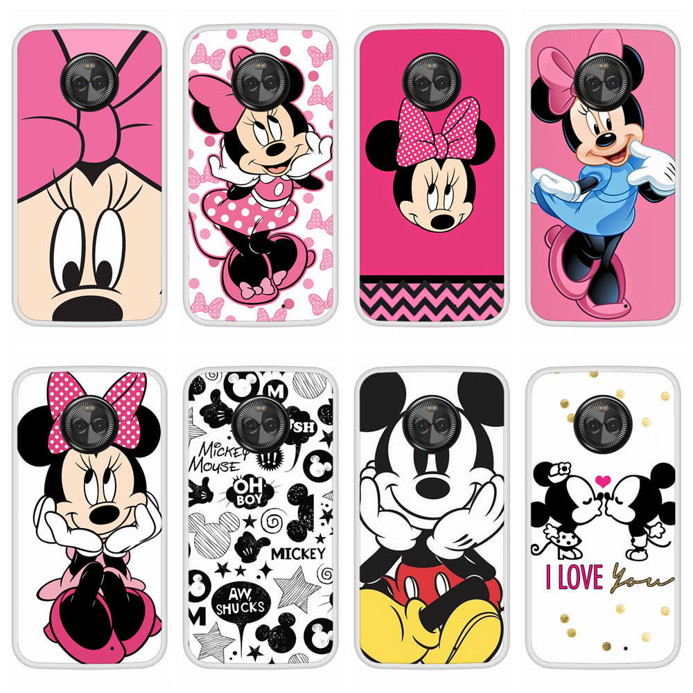 Case for Motorola Moto X4 Soft Silicone TPU Mickey Minnie Patterned Print Phone Cover for Motorola Moto X4 Case Cover