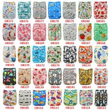 Ohbabyka Diaper Cloth Baby Nappies Adjustable Baby Cloth Diaper One Size Couche Lavable Washable Diaper Pocket Cover 10pcs/lot