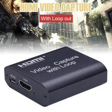 4K HDMI 1080P 4K HDMI dispositif vidéo HDMI vers USB 2.0 carte vidéo dongle enregistrement en temps réel streaming transmission en boucle locale(China)