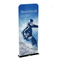 Custom Print 2/3/4/5ft exhibition display ez tube banner stand Steel Base pillow backdrop for advertising exhibition Party