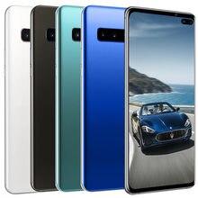 S10 + smartphone fullscreen2gb + 16gb 4 núcleo android 6.0 dedo face id câmera dupla 4g telefone celular inteligente