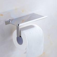 Хромированная вешалка-крючок для туалетной бумаги, держатель для телефона с фиксирующими винтами, стеллаж для хранения туалетной бумаги в ванной, держатель для туалетной бумаги